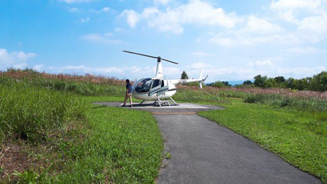 洞爺湖観光中にサイロ展望台でヘリコプターに乗せられた!高所恐怖症が乗って来た感想