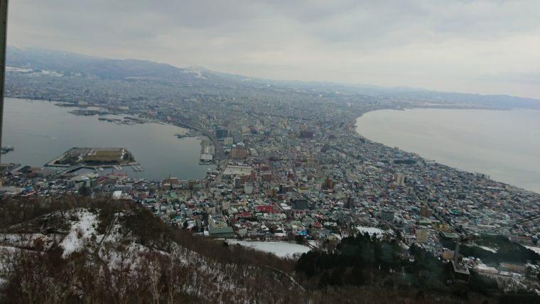 函館山ロープウェイから見る函館の街