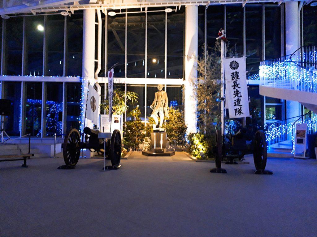 函館タワーの一階にある土方歳三像