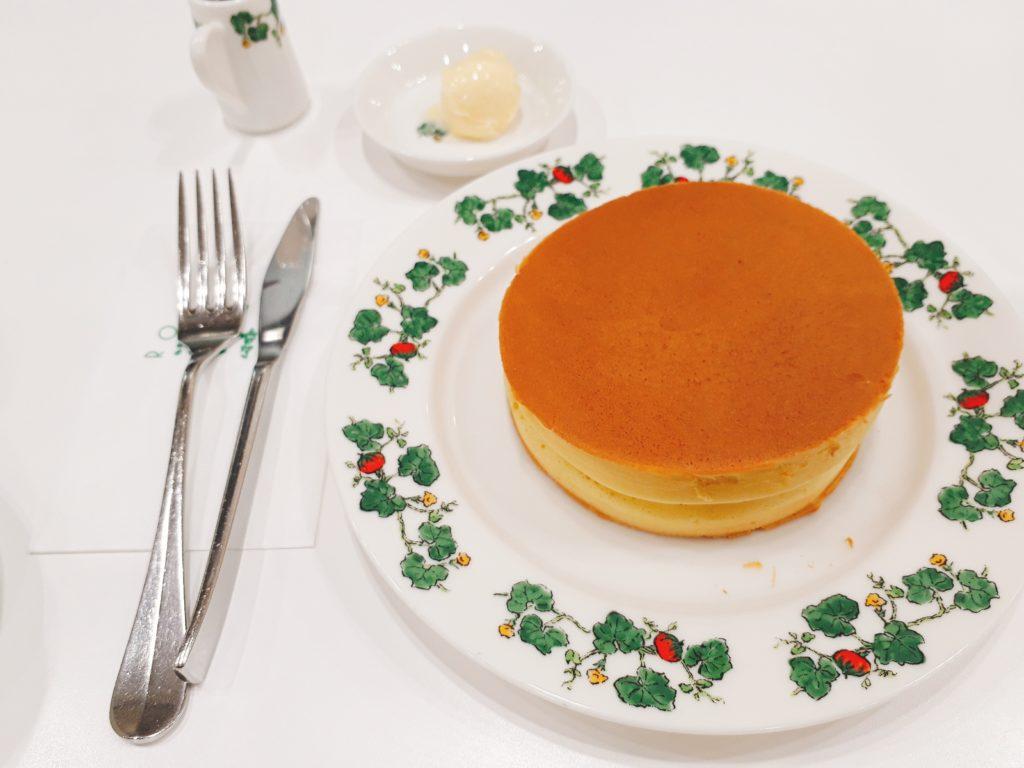 六花亭喫茶室の美味しいホットケーキ