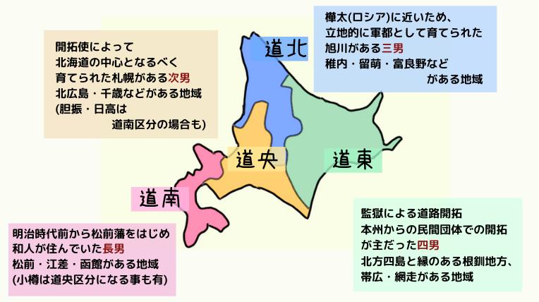 札幌と十勝帯広の距離は遠い!移動する時の注意や歴史の違いを知ると北海道らしさが分かる? 北海道区分図
